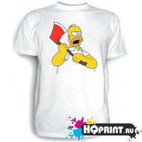 Футболка Гомер с топором