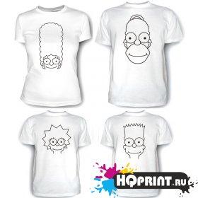 Комплект футболок Симпсоны