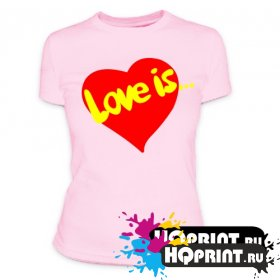 Футболка LOVE is.. сердце