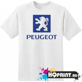 Футболка логотип peugeot