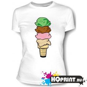 Футболка Цветное мороженое