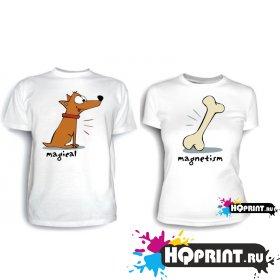 Парные футболки Magnetism