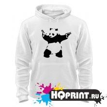 Толстовка Панда с пистолетами