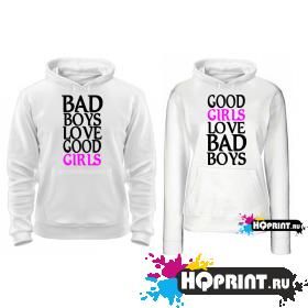 Парные толстовки Bad boys good girls