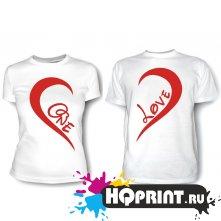 Парные футболки One Love