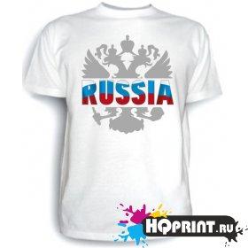 Футболка Russia (герб)