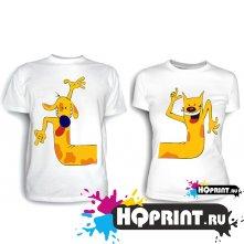 Парные футболки Котопес 2