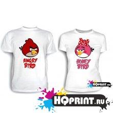 Парные футболки Angry birds