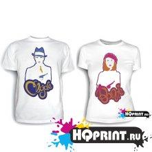 Парные футболки Bonni and Clyde