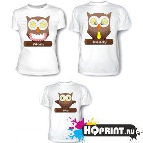 Комплект футболок совы