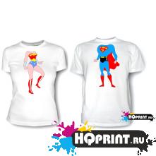 Парные футболки Superman