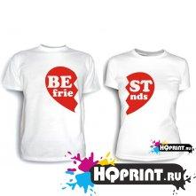 Парные футболки Best friends