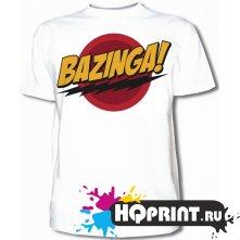 Футболка Теория большого взрыва- bazinga