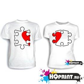 Парные футболки Паззл 2