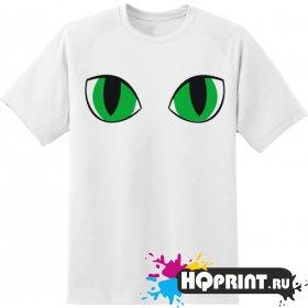 Футболка зеленые глаза