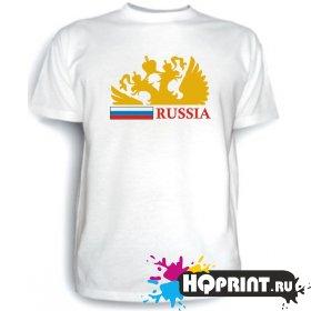Футболка Россия (герб и флаг)