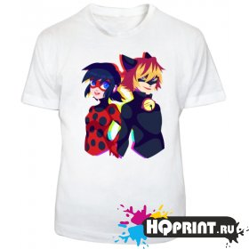 Детская футболка Леди Баг и Супер-кот