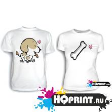 Парные футболки Косточка