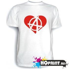 Футболка Анархия (сердце)