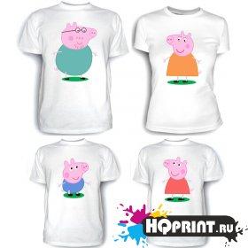 Комплект футболок Свинка Пеппа и семья