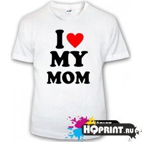 Детская футболка I love my mom
