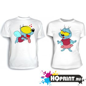Парные футболки Вжик