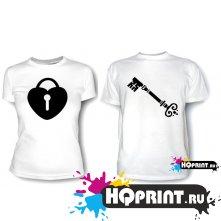 Парные футболки Ключ от сердца 2