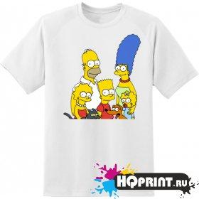 Футболка семья Симпсонов