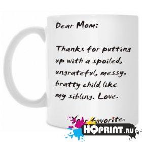 Кружка Dear Mom 2