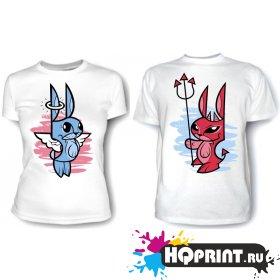 Парные футболки Зайки