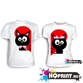 Парные футболки Кошки