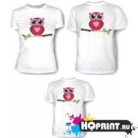 Комплект футболок Совы - мама, папа, сын