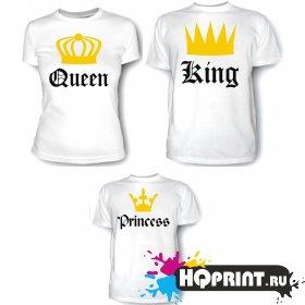 Комплект футболок Королевская семья (мама, папа, дочка)