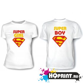 Парные футболки Super Boy (Super Girl)