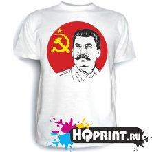 Футболка Сталин, серп и молот