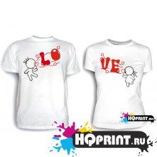 Парные футболки LO VE 2