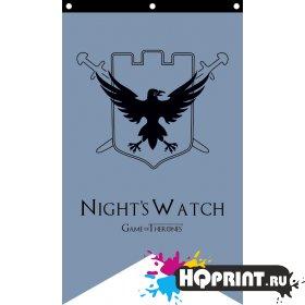 Флаг Ночной дозор Игра Престолов