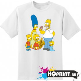Футболка семья Simpson