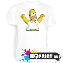 Футболка Счастливый Гомер