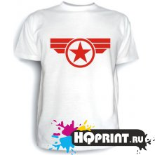 Футболка Капитан Америка (логотип)