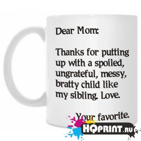 Кружка Dear Mom