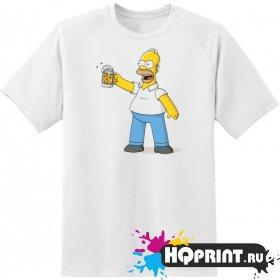 Футболка Гомер с пивом
