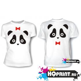 Парные футболки Панда
