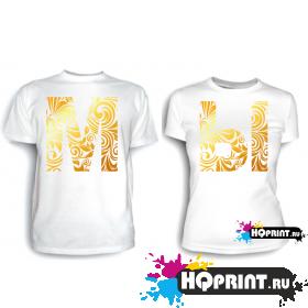 Парные футболки МЫ (золото)