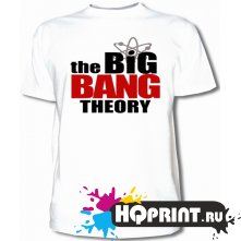 Футболка Теория большого взрыва- логотип