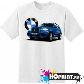 Футболка BMW синяя