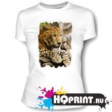 Футболка Леопард на камне