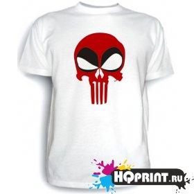 Футболка Deadpool (череп)