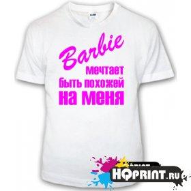 Детская футболка Барби