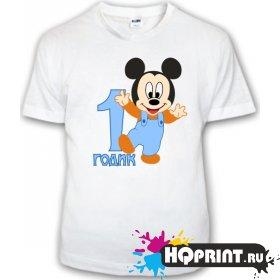 Детская футболка Микки (1 годик)